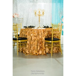 21 Gold Wedding Party Table Skirt . 2