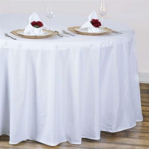 120″  Polyester Round Tablecloth