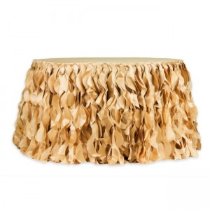 21 Gold Wedding Party Table Skirt .